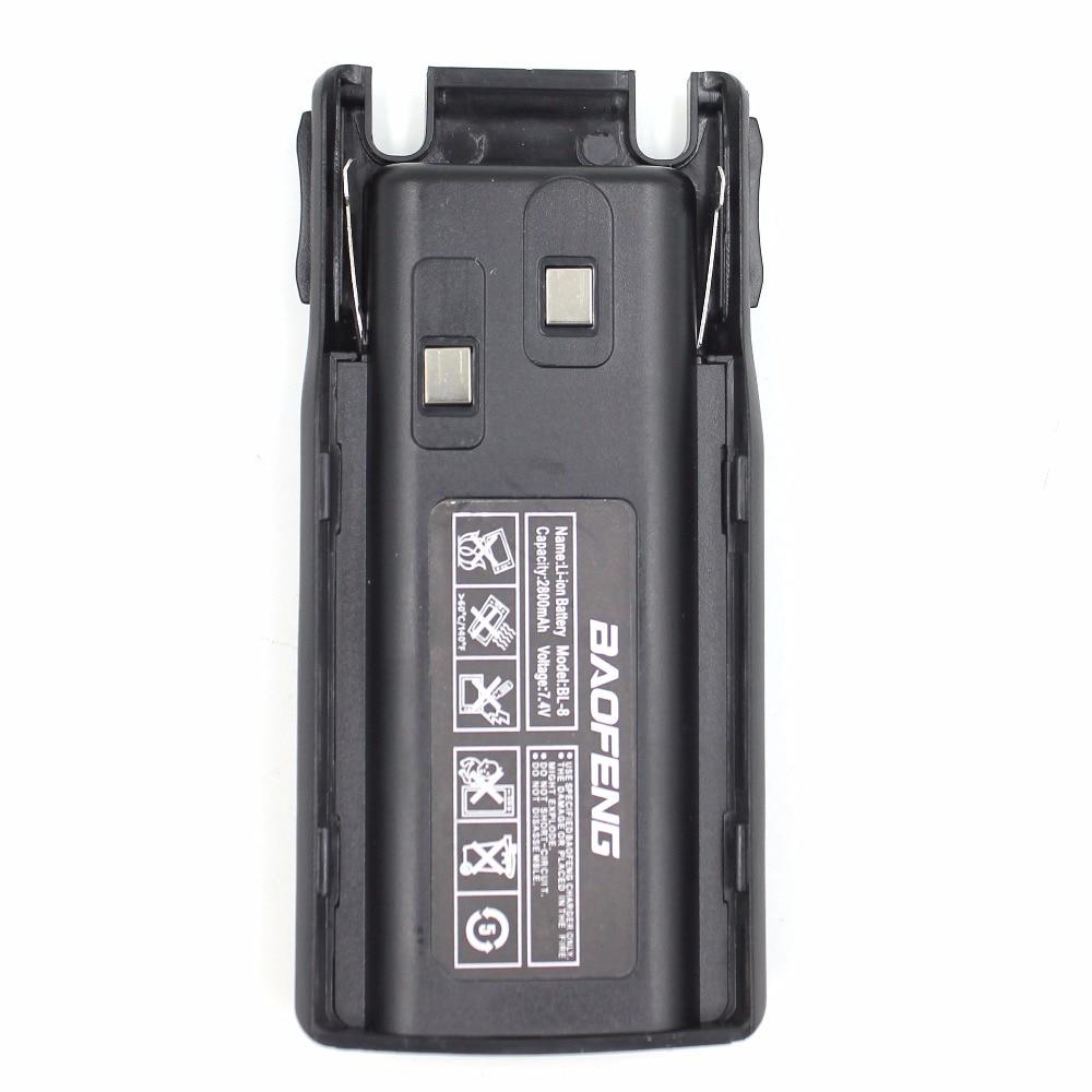 Replacement UV82 battery Baofeng UV-82 Dual PTT  BL-8 2800mAh 7.4V Li-ion Battery for UV-82 UV-8D UV-89 UV-8 Two Way Radio