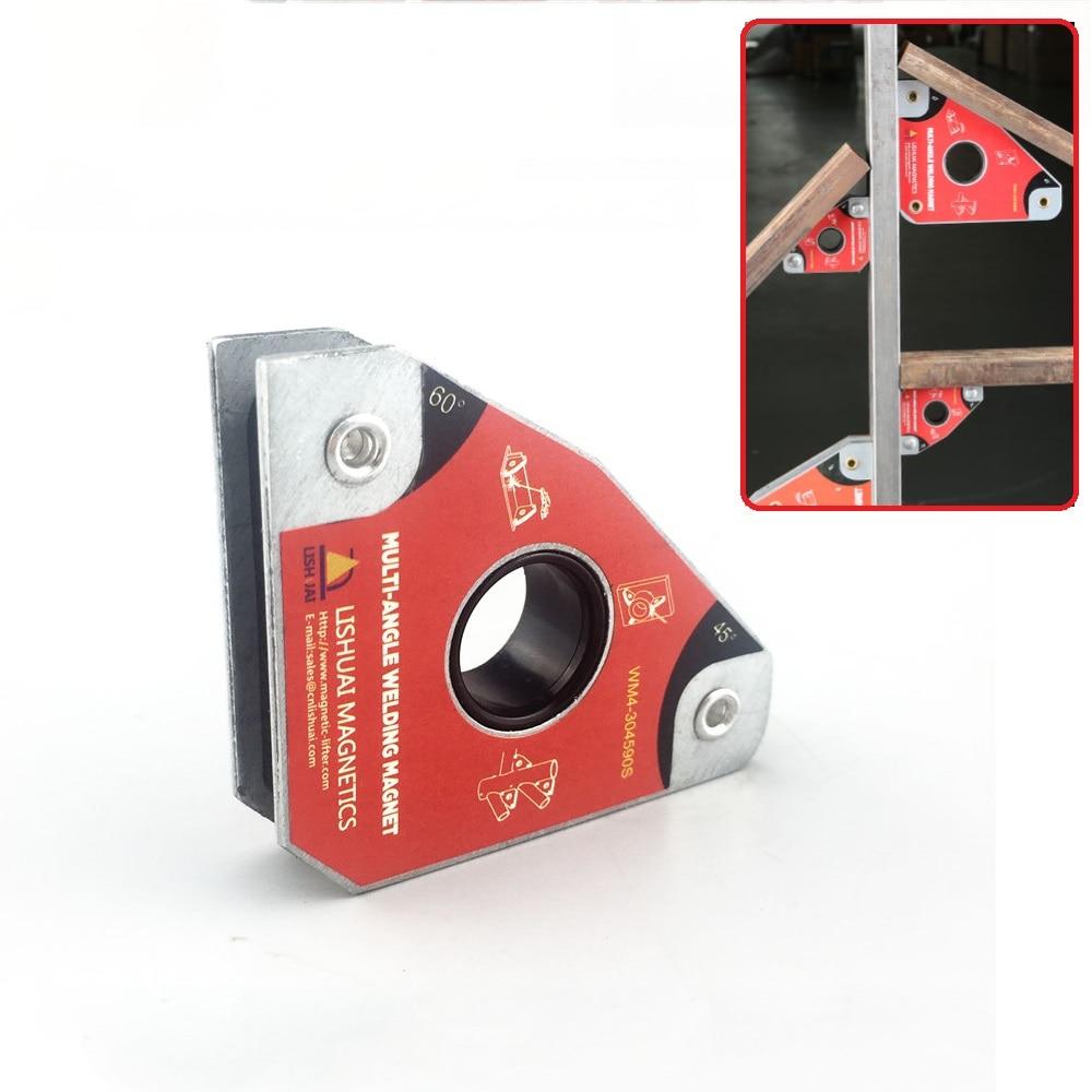 2pcs Multi-angle Mini Welding Magnets Neodymium Clamp Holder Never Degaussing Lifting Welding Positioner 30 60 45 90 degrees
