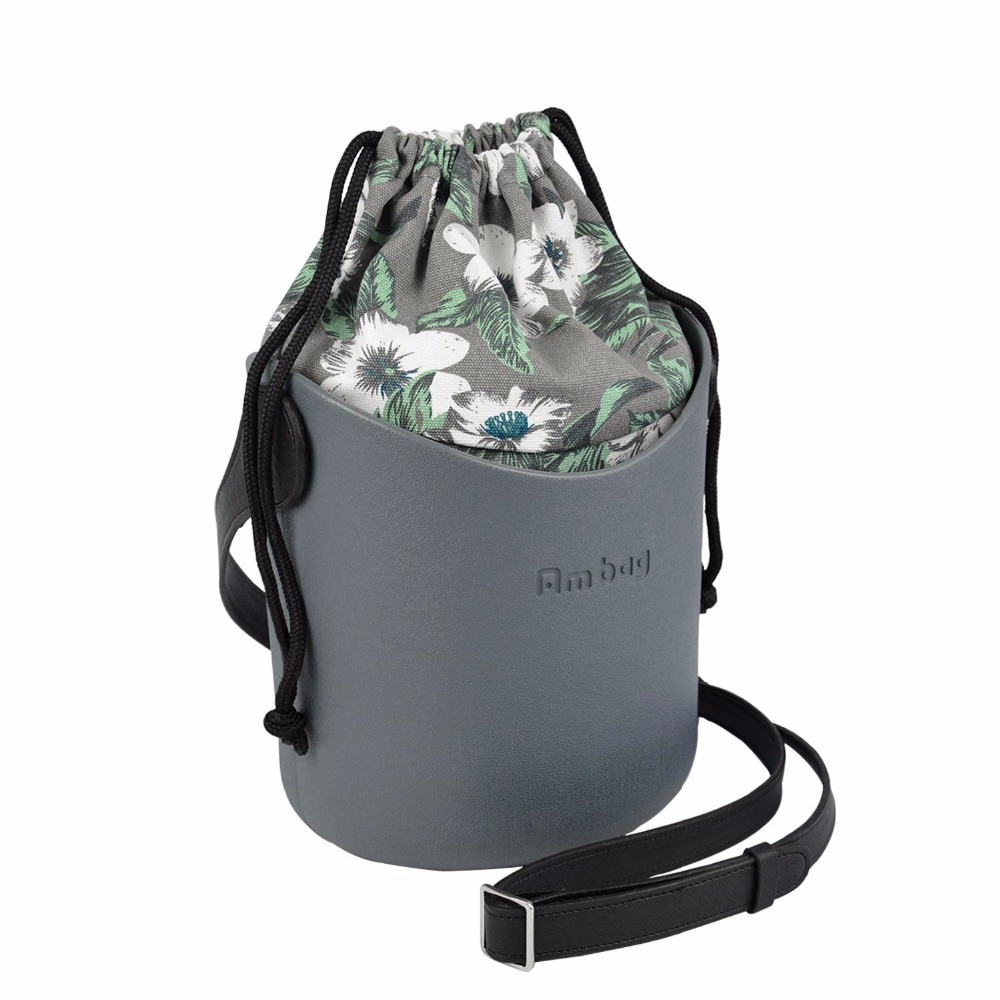 ANLAIBEIER Ambag إيفا Obag يا سلة نمط سلة مع مقابض الأشرطة قماش سلسلة إدراج المرأة الكتف حقيبة رسول حقيبة