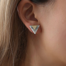 Fashion New Simple Triangular Marble Pattern Geometrical Earrings For Women 2018 New Jewelry Gift