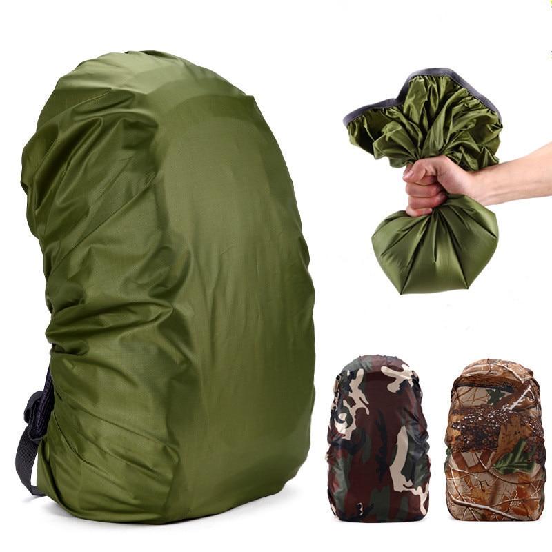 70L mochila resistente al agua bolsas Camuflaje militar cubierta de lluvia Kits de viaje Camping senderismo bolsas impermeables cubierta Oudoor herramientas