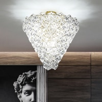 Modern Ceiling Lights Fixture LED Lights European Glass Snowflower Ceiling Lamps Home Indoor Lighting Living Dining Room Lamp