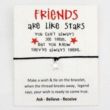 Étoiles meilleurs amis coeur merci maman rêve abeille argent charme carte Bracelets femmes hommes fait à la main bijoux cadeau