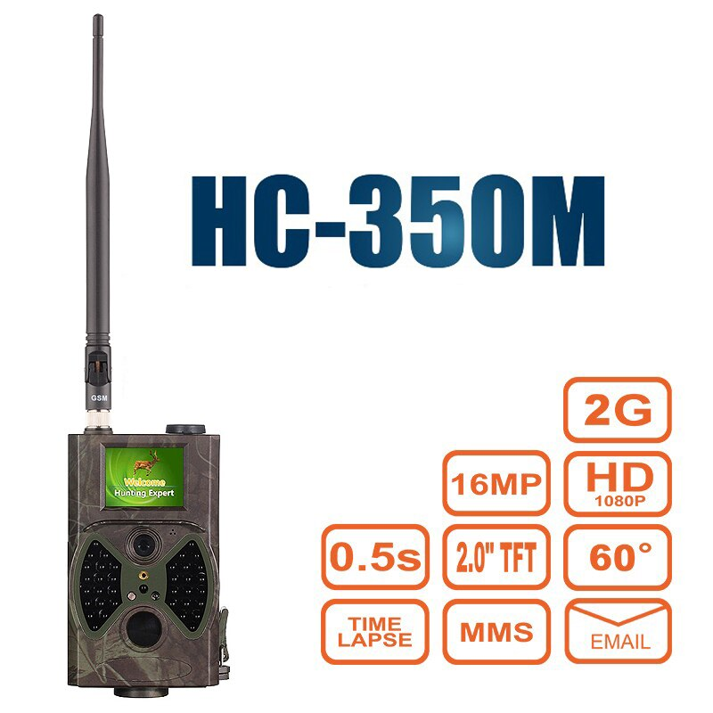 Охотничья камера MMS GPRS электронная почта инфракрасная Дикая камера GSM HC350M GPRS 16MP 1080P HC300M ночное видение для животных фото ловушки