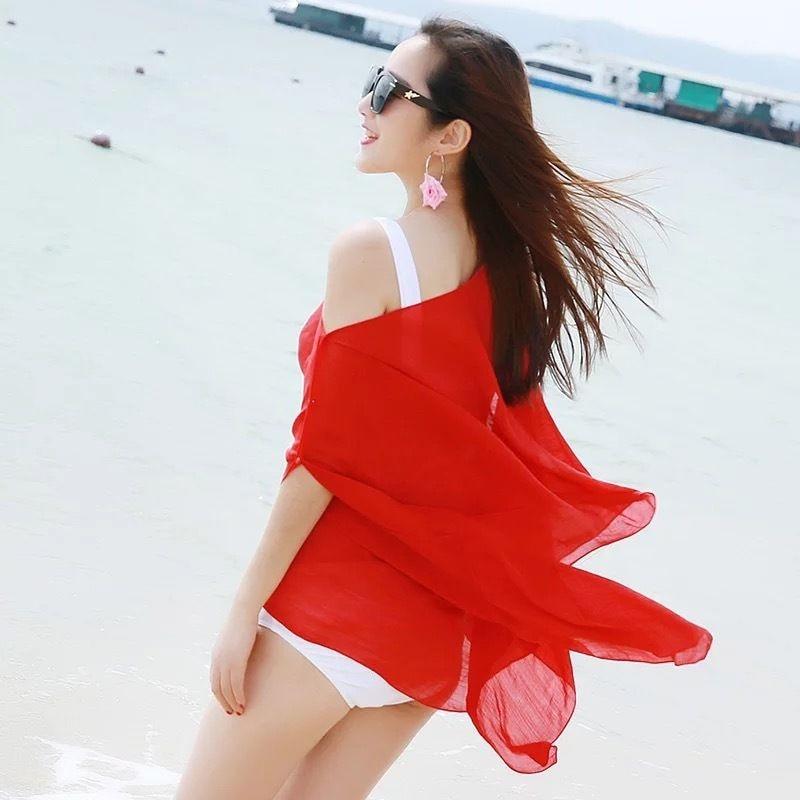 9 Colors Pareo Beach Cover Up Chiffon New Bikini Cover Up Robe De Plage Summer Beach Wear Scarf Dress Women Swimsuit Biquini