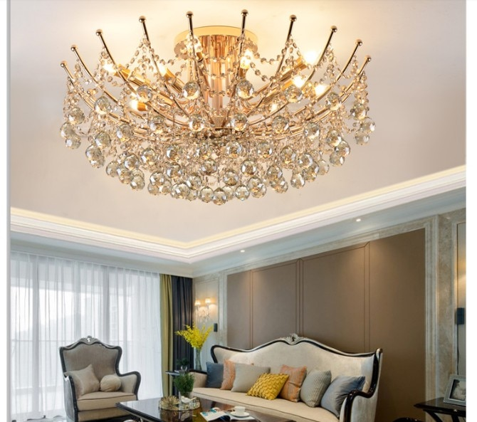 Free Shipping Chrome Golden Modern Crystal Ceiling Lamp Suspended Hanging Lamp,Lustre De Crystal,Lustres De cristal Pendant Lamp