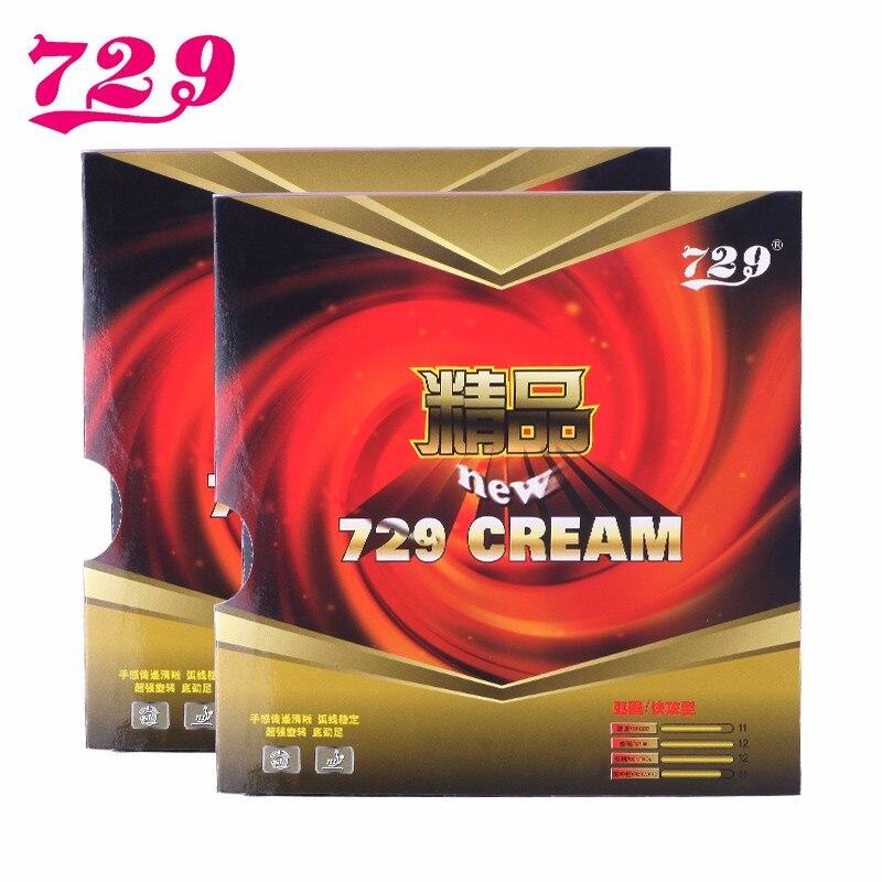 2 pçs/lote RITC 729 Amizade New CREME (Creme 729) Pips-No Tênis de Mesa (PingPong Borracha) com Esponja