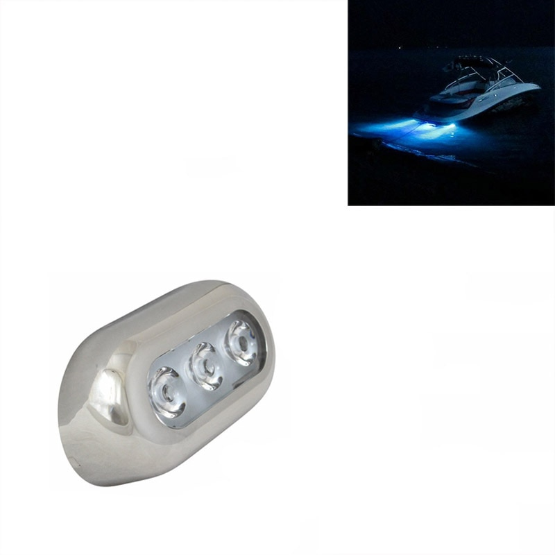 12V Marine Boat LED Underwater Light Blue Drain Water Lamp Accessories Decoration from ITC