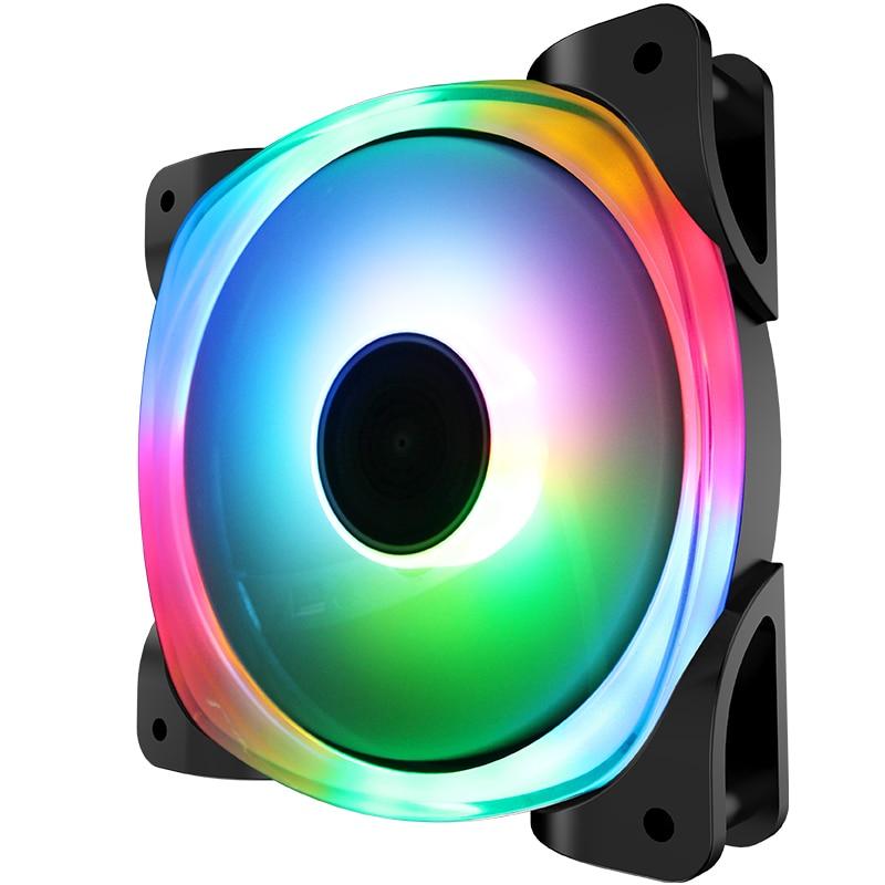 JONSBO FR-701 color versión interior y exterior doble lámpara grupo apertura eje LED cambio colorido 12CM ventiladores del chasis
