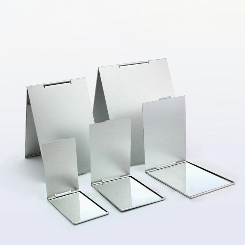 Espejo cosmético ultrafino plegable de 5 tamaños, espejo plegable, espejo decorativo de maquillaje plegable, rectángulo, 1 Uds.