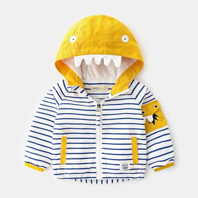 27kids   Spring Autumn Baby Clothes Boys Girls Hoodie Cotton Stripe Casual Sweatshirt Jacket for Boys kids Children Sport Hoodie