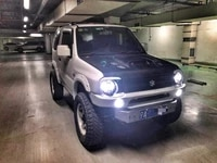 jimny car styling new design 7inch head lights with covers