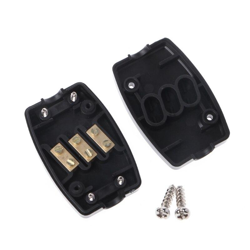 13 a conector en línea caja 3 Terminal Joiner cable flexible Red Eléctrica