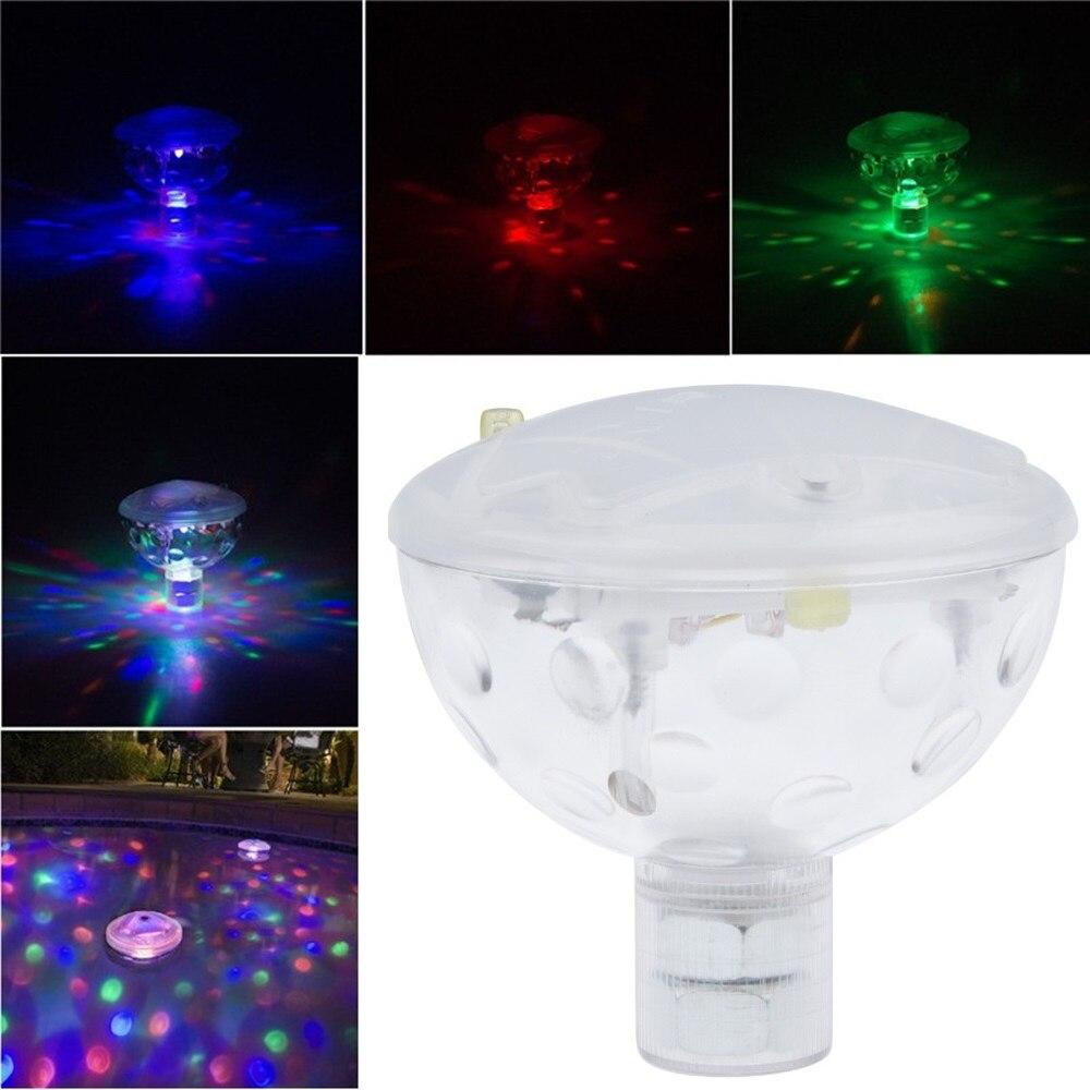 AAA alimentado por batería LED fuente subacuática Luz de bañera discoteca Spa piscina lámpara flotante estanque acuario Luz