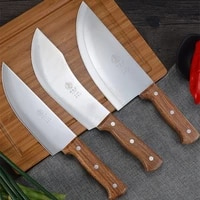 deng stainless steel professional butcher knives set slaghter house slicing meat tool cattle sheep pig boning knife pork cleaver