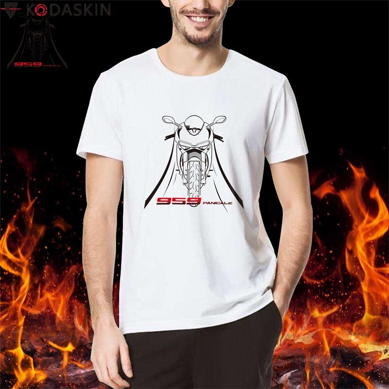 KODASKIN, camiseta con diseño de motocicleta, camisetas para hombre, camisetas para Ducati Panigale 959