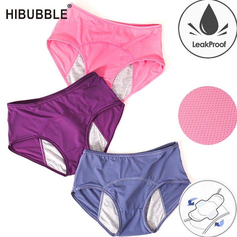 Pantalones fisiológicos a prueba de fugas, ropa interior Menstrual, Bragas para mujer, ropa interior de algodón sin costuras, bragas talla grande, lencería