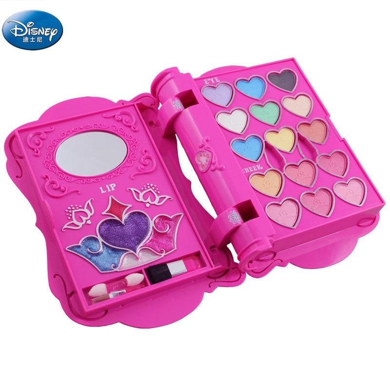 Disney girls Notebook shape makeup  Toys Cosmetics snow White princess Makeup Box Set Safe Non-toxic Girl Toy Gift