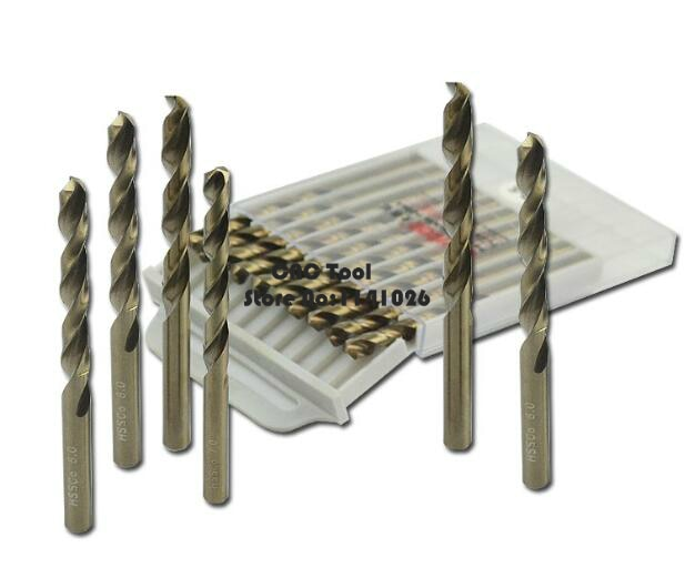 10 piezas 5,5mm-8,5mm, HSS-Co cáñamo flores M35 cobalto broca de acero inoxidable especial Twist Drill bits (5,5mm/6,0mm/7,0mm/8,0mm)