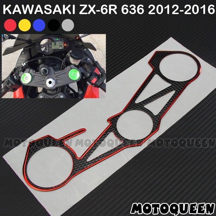 Новинка 2019! Наклейка Наклейки коврик тройной дерево топ зажим верхний передний конец водонепроницаемый для Kawasaki ZX-6R ZX6R 636 12 13 14 15 2012-2016