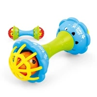 baby rattles soft rubber dumbbell ball ring pacify tooth rubber ring early teach wisdom hand grab ball infant baby toys