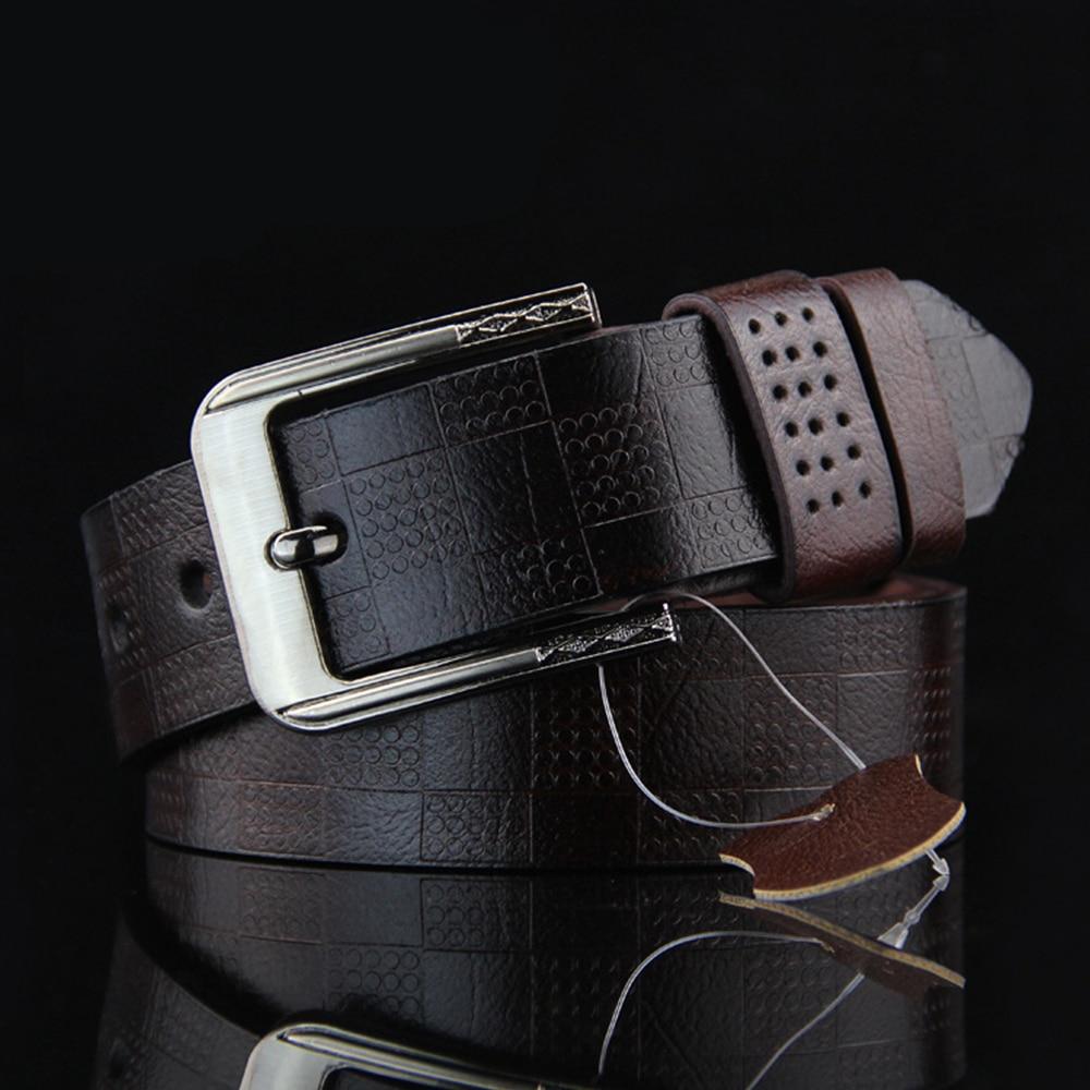 Hot New Mens Belts Luxury Brand Designe Leather Belt For Man 2020 High Quality Lattice Embossing Female Ceintures Homme U108