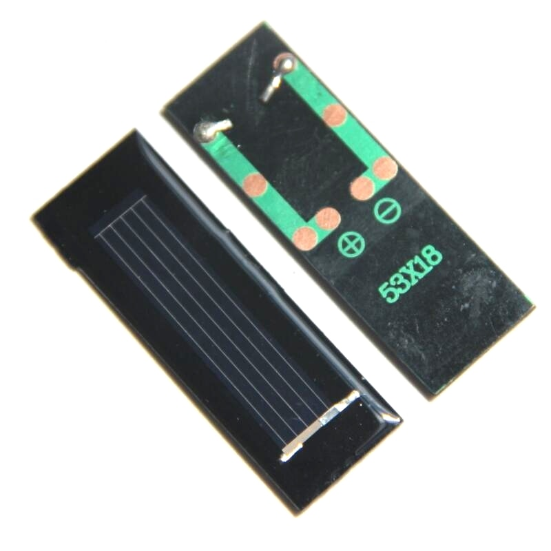 BUHESHUI 0.5 V 250MA Mini panneau solaire époxy cellule solaire bricolage batterie solaire jouet panneau éducation 53*18*2 MM époxy en gros 100 pièces