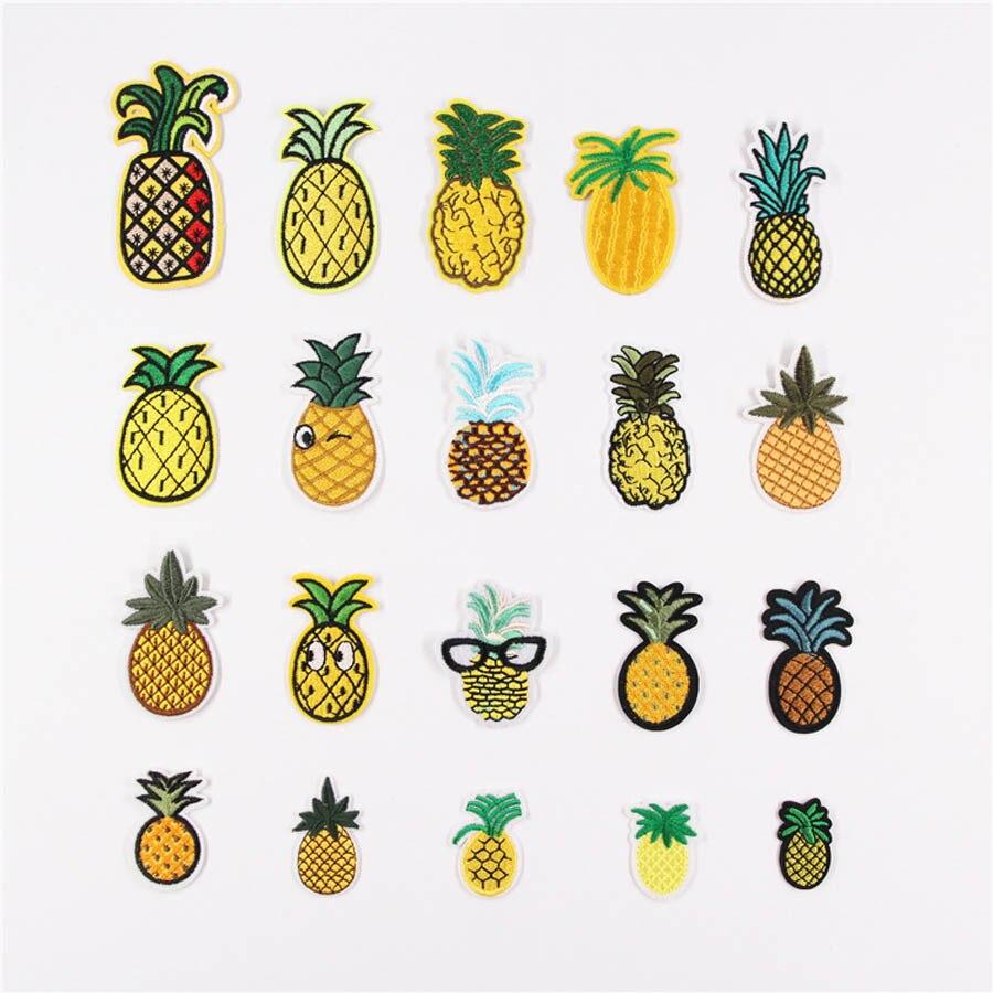 Вышитая нашивка с ананасовым рисунком, наклейки на одежду, сумка для шитья, аппликация «сделай сам», Швейные аксессуары для одежды BU166
