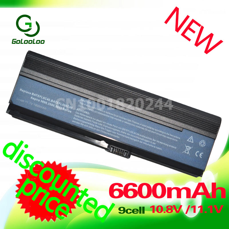 Golooloo 11.1v BATTERY for Acer 5500 BT.00604.004 BT.00604.012 BT.00903.007 CGR-B/6H5 LC.BTP00.001 LC.BTP01.006 LIP6220QUPC SY6