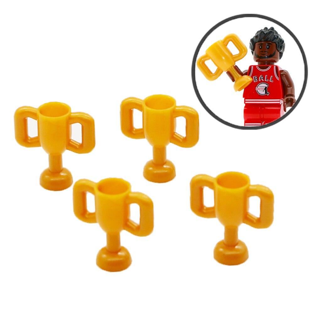 Ciudad de fútbol bloques de construcción Rusia campeón de fútbol Compatible amigos accesorios ladrillo construcción juguetes para niños
