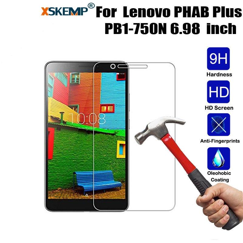 XSKEMP Tablet película de vidrio templado para Lenovo PHAB Plus PB1-750N 6,98 pulgadas Anti-Shatter Protector de pantalla claro Protector de protección