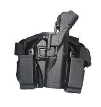 Outdoor LV3 Tactical Thigh Gun Holster  Combat Pistol hunting Military RH Drop leg Holster set for GL 17 19 22 23 31 32 Black