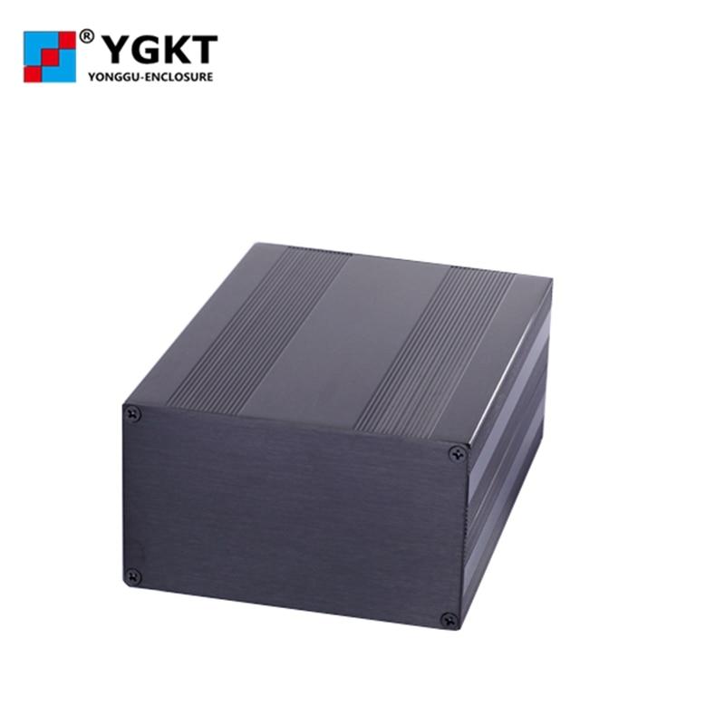 145-82-N мм (W-H-L) Алюминиевая Электронная коробка корпус проект корпус PCB DIY, изготовленный на заказ алюминиевый экструзионный корпус с анодиров...