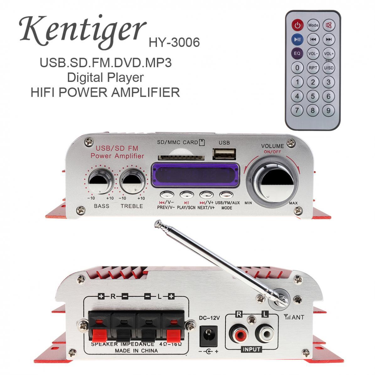 Pantalla Digital con modo de sonido de 12V CC, amplificador de potencia...