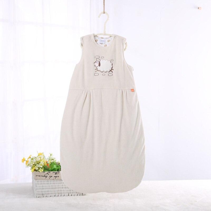 Спальный мешок для маленьких мальчиков и девочек, мягкие детские сумки, зимний теплый плотный хлопковый стеганый спальный мешок, длинный внутренний комбинезон на молнии с овечкой