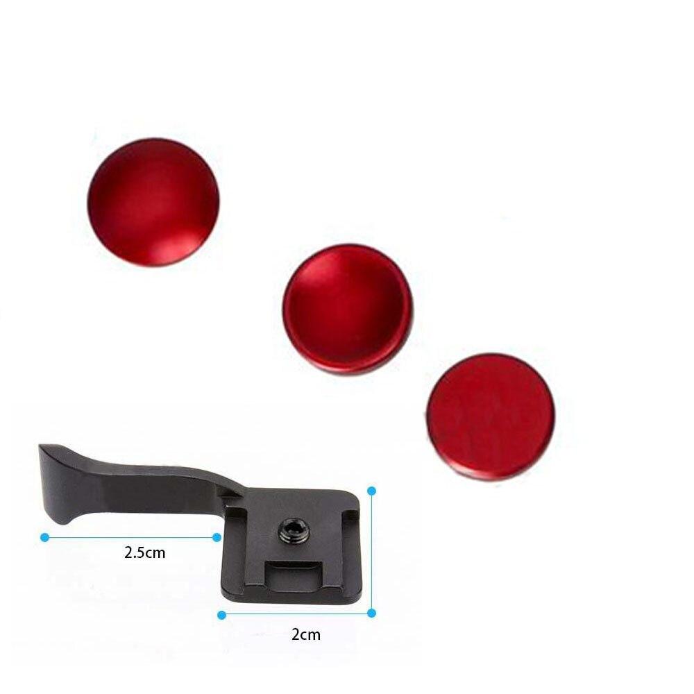 4 в 1, черная кнопка спуска затвора + ручка, кнопка большого пальца, Fo Fuji X-PRO1, X-E2, X100, X100S, x10, x20, X-A1, X-M1