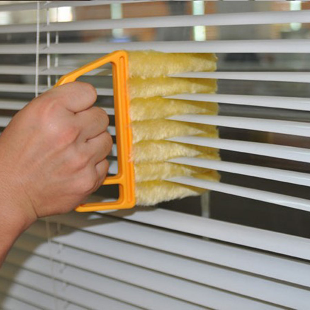 Louver Detachable Cleaning Brush Air Conditioner Outlet Dust Removal Brush Furniture Window Blinds Cleaner Random Color