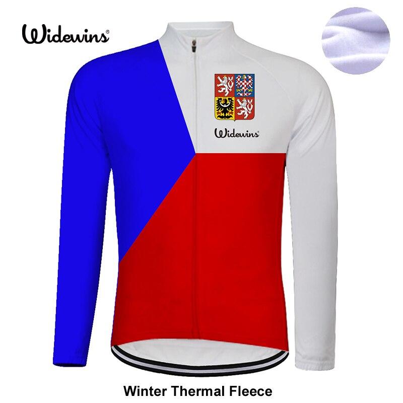 Widewins チェコ冬の熱フリースサイクリング服サイクリングジャージ ropa ciclismo hombre ロック衣類 8025