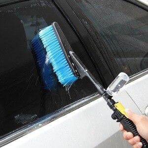 Image 5 - Щетка для мытья автомобиля, выдвижная щетка с длинной ручкой, переключатель потока воды, для чистки бутылок из пенопласта