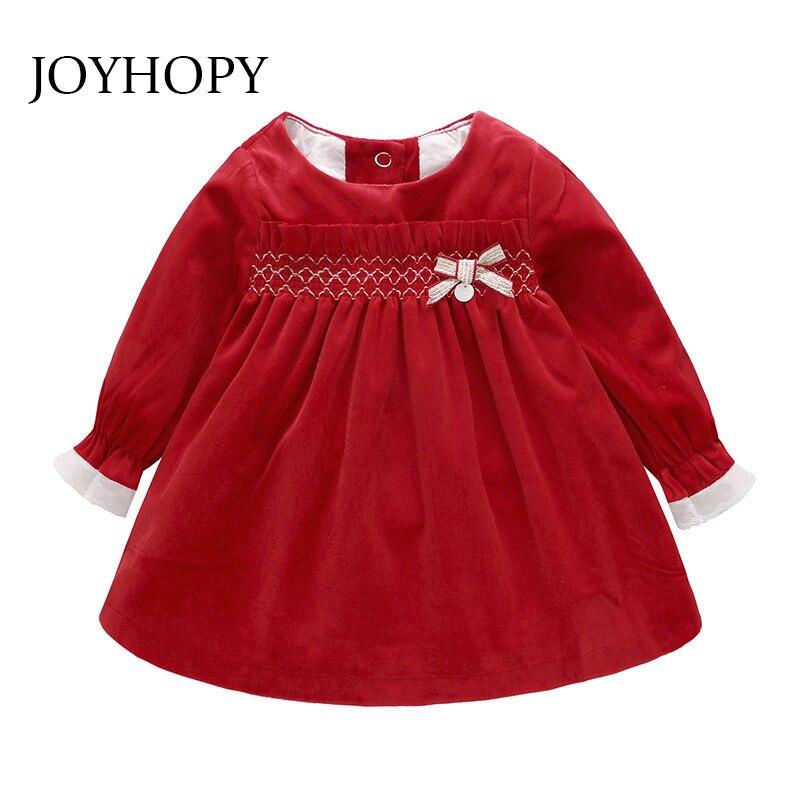 Spring Autumn Baby Girls Clothes Infant Toddler Dresses Cotton Ruffles Velvet Christams Costumes Baby Girl Dress