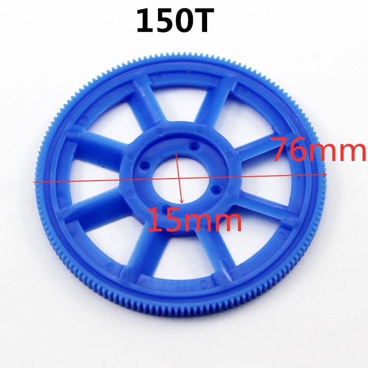 New Arrival 150T Teeth 450 76mm 15mm 7.6cm Big Gear Spare Parts For 450 R/C Helicopter