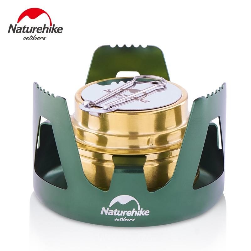 Naturehike NH18L001-T наружная портативная ветрозащитная походная месторождение спиртовая печь кухонная посуда газовая плита для пикника