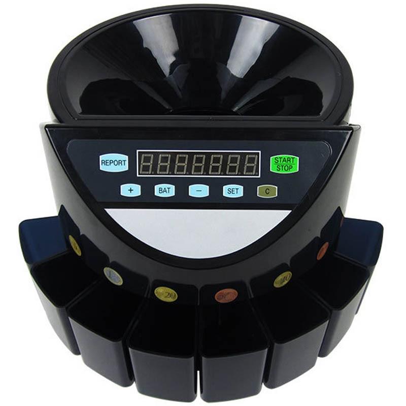 220V/110V الكهربائية عملة فارز شاشة Led الرقمية التلقائي الإلكترونية عملة مكافحة فارز آلة XD-9002 (يمكن تخصيص)