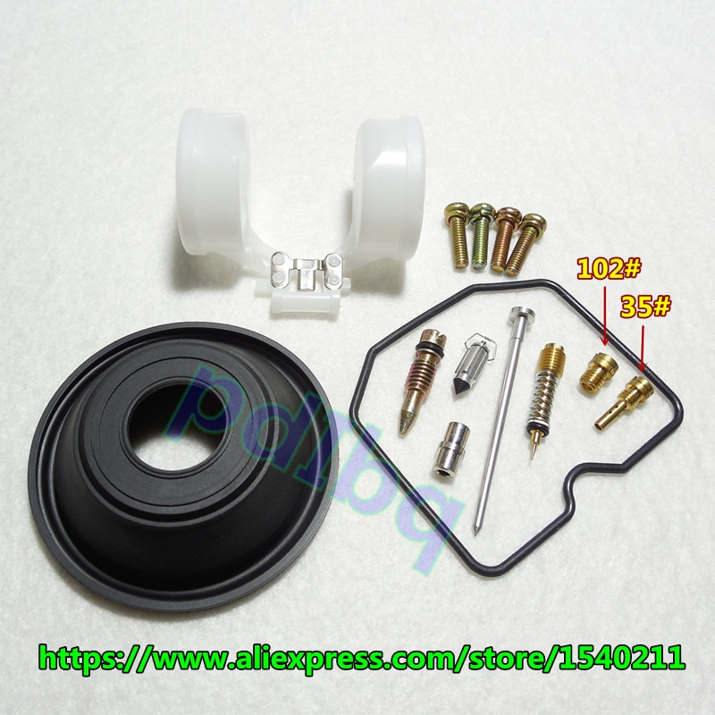 (1 set $ 12.5)  Kawasaki GPz 400R ZX400 Keihin carburetor repair kit Configure vacuum diaphragm and float