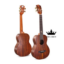 Lumineux 23 pouces 19 frettes Acacia tout bois massif lumière petite guitare 23 pouces haut rigide Ukulele 23 pouces petite guitare hawaïenne