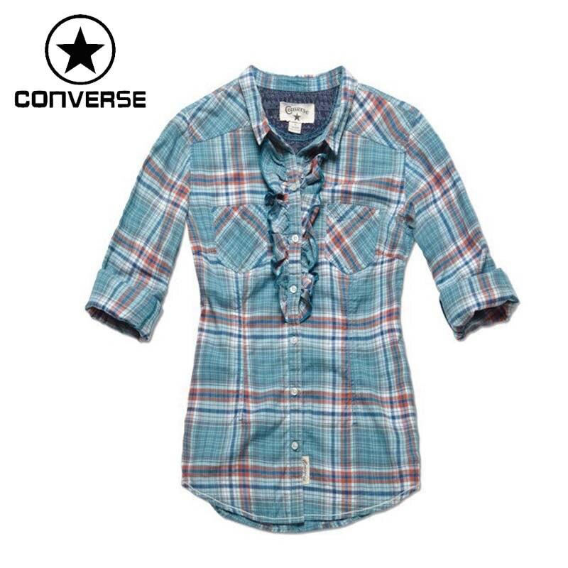 Original Converse camisetas de manga larga para mujer ropa deportiva