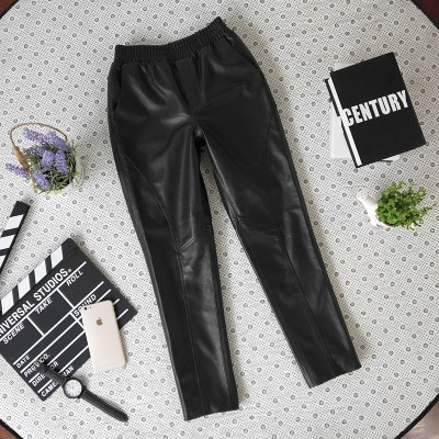 New Fashion Genuine Sheep Leather Pants Y48 Free Shipping One Piece Promotion