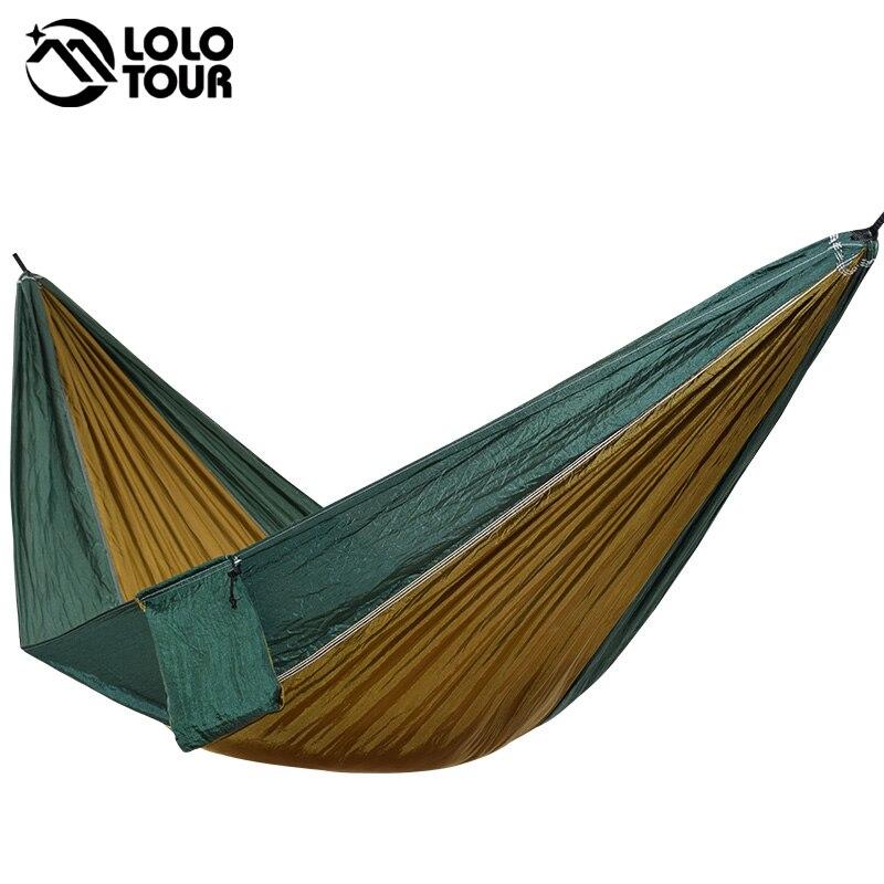 Ultraleicht 1 Person Hängematte Tragbare Einzel Freien Camping Hamak Wandern Klettern Durable Hamac Können Halten 200kg 230*90cm