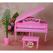 Кукольная мебель для Барби, аксессуары, развлекательная серия для пианино, обеденный стол, кухня, спальня, игрушечный гардероб, праздничный ...