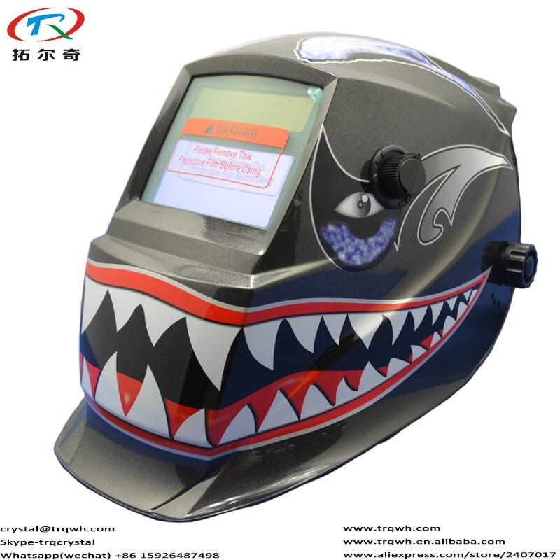 Máscara de pintura máscara de plantas semiautomática máquina soldadora equipo accesorio Kit batería tapa argón casco TRQ-GD02-2233DE
